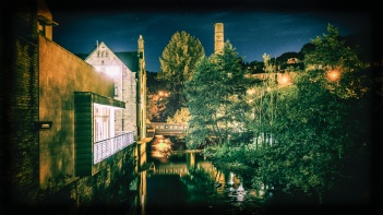 Hebden Bridge at Night by Rory Prior