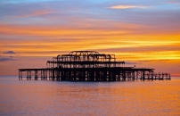 Brighton Sunset by Judith Baron
