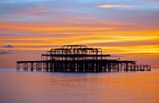Brighton Sunset by Judith Baron