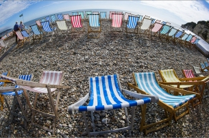 Deckchairs In The Round by Nigel Plant