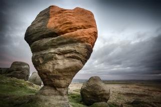 Last light on Bride Stones by Nigel Plant
