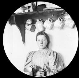 Female portrait in kitchen