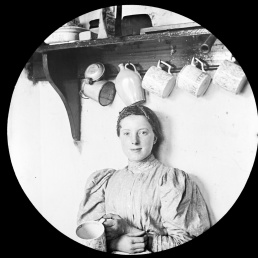 Female portrait in kitchen
