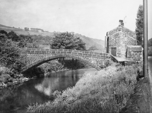 Hawksclough, Mytholmroyd. Darkroom print by John Woodhead
