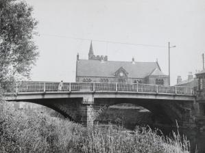 New Road bridge Mytholmoryd. Darkroom print by John Woodhead